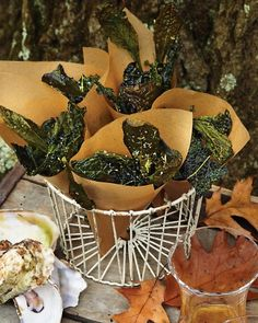 Kale Crisps -- I've made these before, without the lemon zest. So yummy! The kids loved them too!