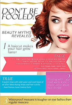 Top 10 Beauty Myths Busted And Debunked 2013. Best Hair, Skincare & Makeup Facts You Need To Know About
