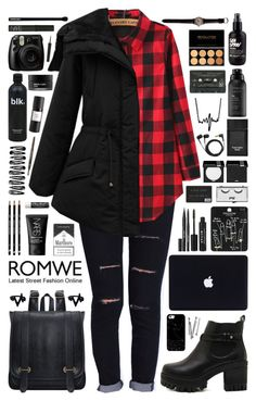 """""""Romwe 6"""" by scarlett-morwenna ❤ liked on Polyvore featuring Casetify, BOBBY, Topshop, Stila, Pop Beauty, MAKE UP FOR EVER, NARS Cosmetics, Tom Ford, Koh Gen Do and Chapstick"""