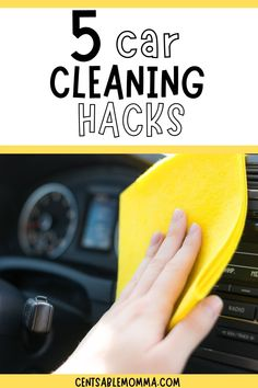 If your car is like mine, it's so difficult to keep it clean with kids. Try these 5 car cleaning hacks for tips and ideas on how to keep the interior of your car clean, including the seats and carpet. Car Cleaning Hacks, Car Wash, Spring Cleaning, Keep It Cleaner, Carpet, Interior, Tips, Ideas, Indoor