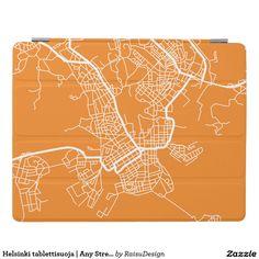 Helsinki tablettisuoja | Any Street Map iPad Cover Ipad 1, Ipad Case, Helsinki, Diagram, Map, Cover, Street, Location Map, Maps