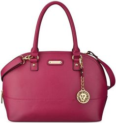 Love this pop of color on neutral outfit : Beige Ivory White Black Anne Klein Purple Jazzy Geos Large Satchel
