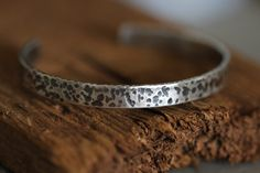 Sterling Silver Cuff Distressed