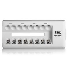 EBL Portable Rapid Smart Charger for 8pcs AAAAA NiMH NiCd Rechargeable Batteries Size 8 Bay AAAAA charger Model *** Continue to the product at the image link.
