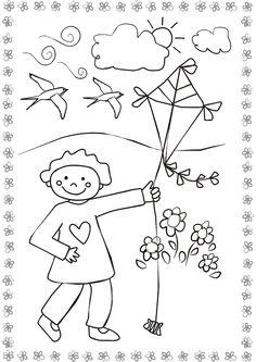 Coloriage Bebe Cerf.19 Meilleures Images Du Tableau Coloriages Kite Coloring Pages Et