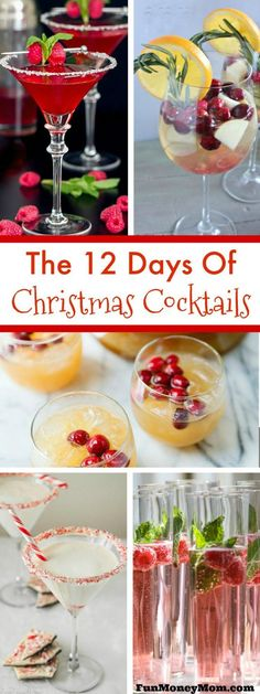 Looking for some delicious holiday cocktails to serve at your Christmas party? These Christmas drinks are sure to make any party festive and fun!