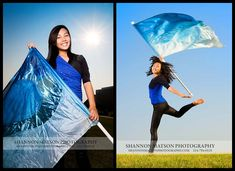 Color guard senior pictures .... Wish I would have thought of this