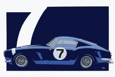 Ferrari 250 SWB 91 x 61 cm £1500,00 inc UK delivery please contact me for Worldwide packing and postage 