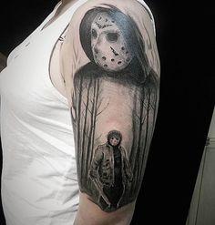 #LxV #tattoo #тату #jason #jasonvoorhees #джейсон #blacktattoo #maniac