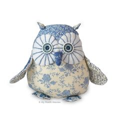 "Twinkle Starry-Eyed Owl, 6"" Soft Toy. Printed Sewing PATTERN & Easy Instructions by MyFabricHeaven on Etsy"