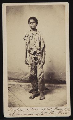 ca. 1862 Caption: Taylor slave of Col Hamilton as he arrived at the fort.