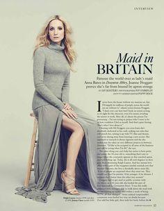"""Maid in Britain"" Joanna Froggatt in Sept issue of Harrods Magazine."
