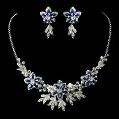 Royal Blue Wedding Jewelry Set! affordableelegancebridal.com I think this blue- Royal- would look great with Bright Pink :)