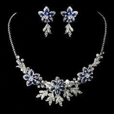 Royal Blue Wedding Jewelry Set! affordableelegancebridal.com