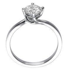 b6d21405fb81 0.50 Ct F SI1 Round Cut Diamond Engagement Ring