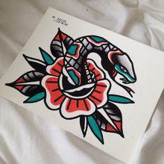 snakerose #specialbreed #snake #rose #painting #flash #tattooflash #snakerose #rosesnake #schlange #tattoo