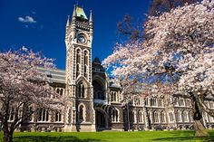 One of the iconic buildings at Otago University. Dunedin, New Zealand Universities In New Zealand, Dunedin New Zealand, New Zealand Tours, Tourist Sites, World's Most Beautiful, South Island, Cheap Travel, Study Abroad, Luxembourg