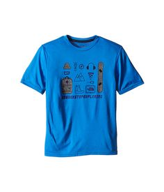 The North Face Kids Short Sleeve Reaxion Tee (Little Kids/Big Kids) TNF Medium Grey Heather/Cosmic Blue - Zappos.com Free Shipping BOTH Ways