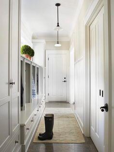 Marie Flanigan Interiors Blog - 4 Mudroom Must Haves - Entry Way Storage - Hooks - White Mudroom - Mudroom Lockers - Mudroom Storage