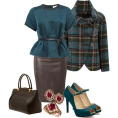 teal and brown 2 by nicole-clark on Polyvore featuring мода, 3.1 Phillip Lim, Joe Browns, 2Love TonyCohen, Coach and Lanvin