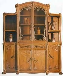 Stunning Art Nouveau cabinet.  I have seen this in person at the art nouveau museum in Berlin