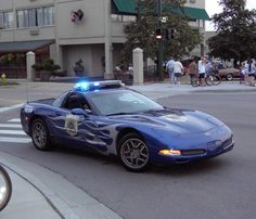 Police cars with flames!!
