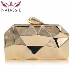 NATASSIE Women Clutch Purses Ladies Gold Bag Female Metallic Evening Clutches Bags Price: 33.80 & FREE Shipping Gold Handbags, Mini Handbags, Fashion Handbags, Brown Handbags, Clutch Handbags, Gold Purses, Brown Purses, Gold Clutch, Clutch Purse