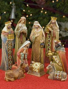 Carved Nativity Set