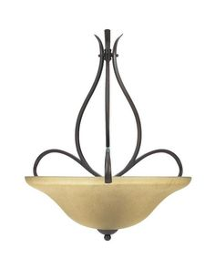 Globe Lighting 6085601 Three Light Bowl Pendant Chandelier in Crimson Coffee Finish | Quality Discount Lighting