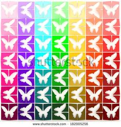 3D rainbow  paper butterflies background. Can be use for decoration