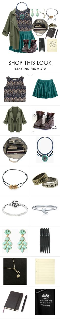 """""""*Here I am, watching the clock that's ticking away my time.*"""" by alyssadc ❤ liked on Polyvore featuring Aéropostale, Esperos, Topshop, LeiVanKash, Hot Topic, BERRICLE and Moleskine"""