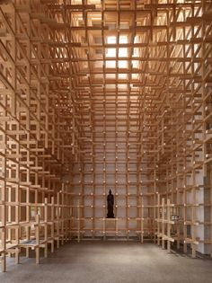 GC Prostho Museum and Research Center / Kengo Kuma & As .- GC Prostho Museum & Research Center / Kengo Kuma & Associates Wood Architecture, Japanese Architecture, Amazing Architecture, Architecture Details, Installation Architecture, Kengo Kuma, Archdaily Mexico, Timber Structure, Timber Cladding