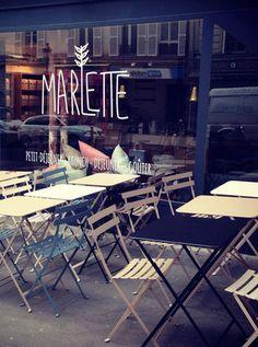 Café Marlette Terrasse Paris