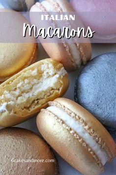 Italian Macaron Recipe, French Macaroon Recipes, Italian Macarons, French Macaroons, Apple Recipes, Gourmet Recipes, Sweet Recipes, Baking Recipes, Cookie Recipes