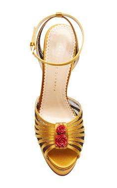 Roslanida Silk-Satin Platform Sandals by Charlotte Olympia - Moda Operandi
