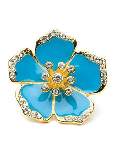 Bauble Bar - Blue Hibiscus Ring