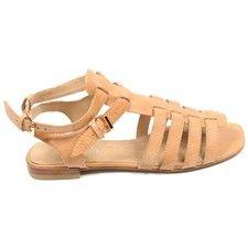 Leather Jobilyn Sandals  Rust