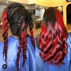Pressed Natural Hair, Natural Hair Twist Out, Dyed Natural Hair, Natural Hair Styles For Black Women, Black Hairstyles With Weave, Twist Hairstyles, Black Women Hairstyles, Natural Hairstyles, American Hairstyles