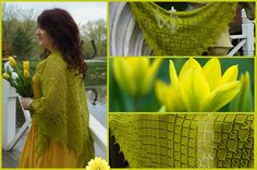 Lovely Lopi is a triangular shawl knitted from back center down