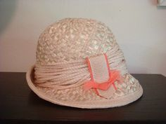 270b1cfe804 Vintage Hat Couture Yves Saint Laurent Straw by decadencefashion