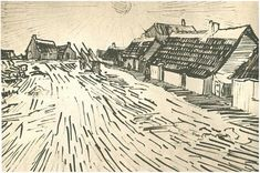 Row of Cottages in Saintes-Maries by Vincent Van Gogh - 1428