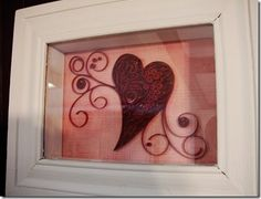 filled heart with quilling