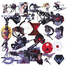 Overwatch Tattoo, Overwatch Widowmaker, Vinyl Labels, All Hero, Blog Design, Print And Cut, Manga, Vinyl Decals, Tattoo Designs