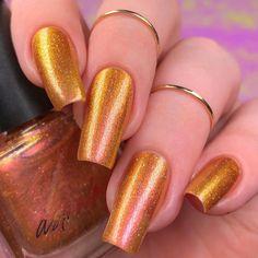 Nail Paint Shades, Golden Nails, Orange Nails, Bling Nails, Trendy Nails, Apothecary, Diy Painting, Claws, Nail Colors