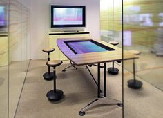 InteracTable by Wilkhahn http://www.archello.com/en/product/interactable #Interior #Design #Technology #Interactive #innovative