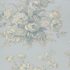 Buy Bluestone Ralph Lauren Francoise Bouquet Wallpaper from our Wallpaper range at John Lewis & Partners. Blue Colour Palette, Grey Wallpaper, Designers Guild, Shabby Chic Style, Floral Bouquets, Designer Wallpaper, Paisley, Ralph Lauren, Prints