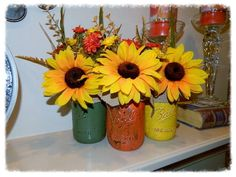 Painted Mason Jars! Happy Crafting, Dee