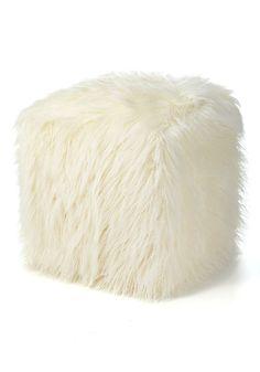 fur pouf | ivory mongolian lamb faux fur pouf footstool $ 199 00 10990ivmon 5 1 ...