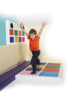 Not sure how to do this as a DIY but Im going to try. TFH USA Special Needs Toys - Musical Squares Sensory Rooms, Sensory Play, Sensory Equipment, Special Needs Toys, Motor Planning, Overcoming Obstacles, Shape Matching, Soft Play, Wall Boxes