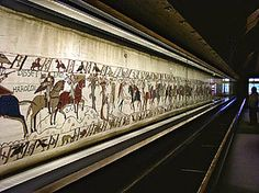The Ultimate Embroidery - The Bayeux Tapestry is an embroidered cloth—not an actual tapestry—nearly 70 metres (230 ft) long, which depicts the events leading up to the Norman conquest of England concerning William, Duke of Normandy and Harold, Earl of Wessex, later King of England, and culminating in the Battle of Hastings.
